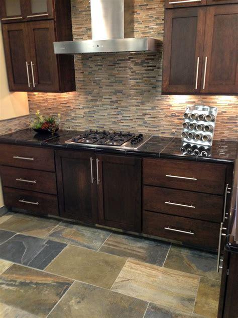 Kitchen Ideas Mosaic Stone Backsplash Tile Fireplace Glass