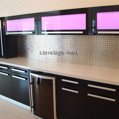 exemple de credence cuisine mosaïque inox 1m2 crédence cuisine carrelage regular 30 carrelage inox fr