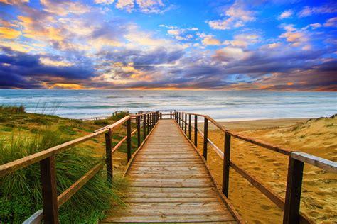 walkway   beach  retina ultra fond decran hd