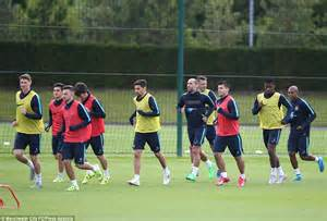 Manchester City train at their top-of-the-range facility ...
