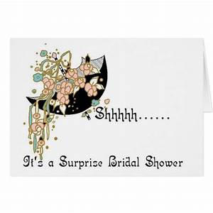 bridal shower invitation surprise cards zazzle With surprise wedding shower invitations