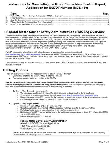 fmcsa form mcs 150 download mcs 150 form for free formtemplate