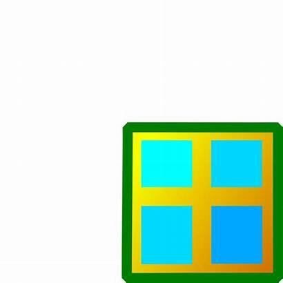 Window Clipart Clip Windows Cliparts Square Frame