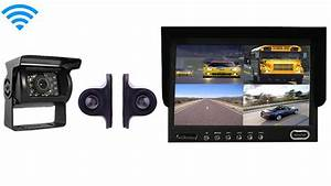 Wireless Rear View System For An Rv With 3 Cameras And