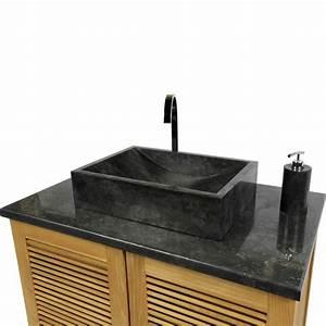 Marmor Waschtisch Mit Unterschrank : marmor waschbecken perahu schwarz 50 cm ~ Bigdaddyawards.com Haus und Dekorationen