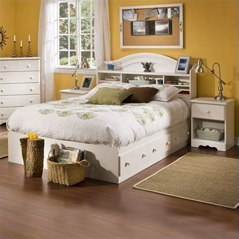 Bookcase Bedroom Set by South Shore Summer Wood Bookcase Bed 3