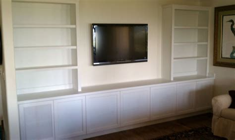 white media cabinet made painted white media cabinet by saw tooth designs