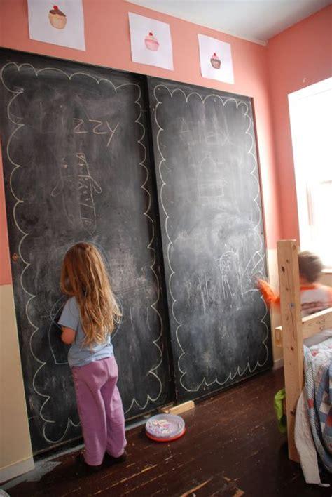 chalkboard paint closet door one day god willing
