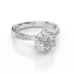 d vvs1 engagement ring 2 carat cut 14k white gold bridal jewelry ebay - 2 Carat Engagement Rings