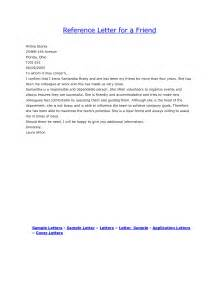 Sample Character Reference Letter for Friend