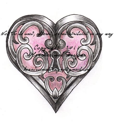 25 Best Ideas About Key Heart Tattoos On Pinterest