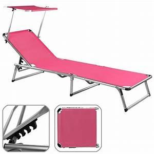 Transat De Plage Pliant Leger : chaise longue de jardin rose pliante aluminium achat ~ Dailycaller-alerts.com Idées de Décoration