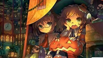 Anime Halloween Pumpkin Lantern Wallpapersafari A160