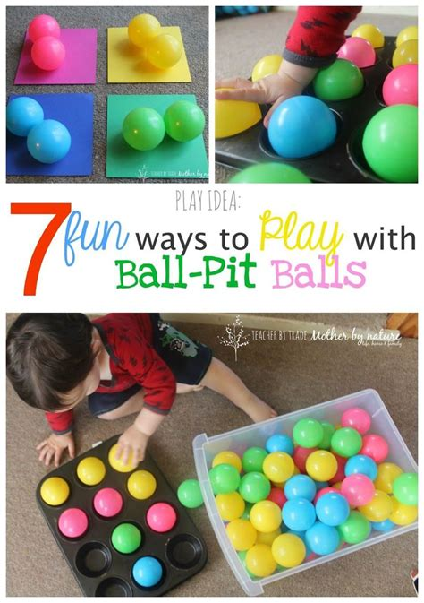 play idea  fun ways  play  ball pit balls