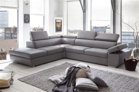 canapé d angle en cuir gris canapé d 39 angle design en pu gris clair marocco canapé d