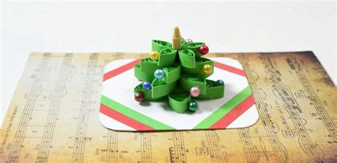 How To Make A 3d Christmas Tree Quilling Paper Greeting