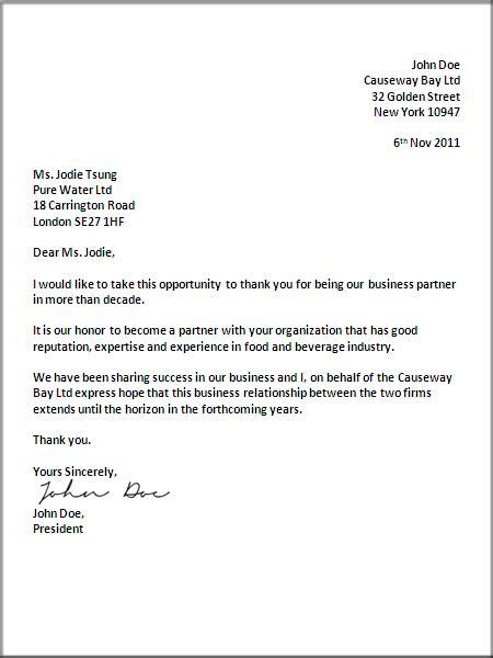 proper format for a business letter uk business letter format letter business 6994