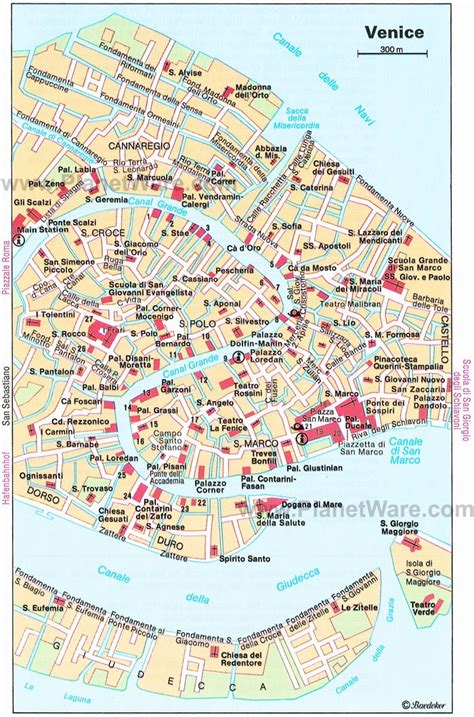 map  venice attractions summer destinations