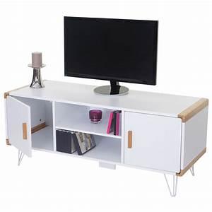 Tv Rack Weiß : tv rack toledo fernsehtisch lowboard mit bambus wei 120x50x45 5cm ~ Whattoseeinmadrid.com Haus und Dekorationen