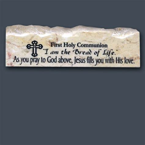 holy communion inspirational scripture stone