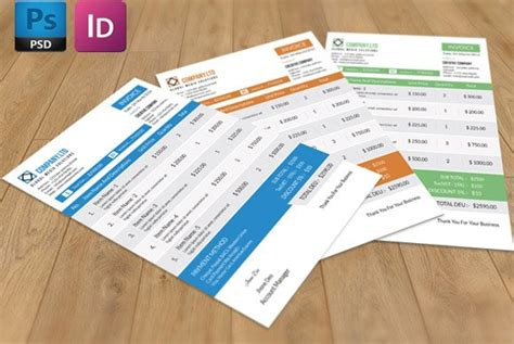 invoice template v01 stationery templates creative market