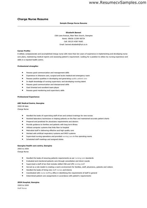 nursing grad resume sles resume nurse sle inspiration decoration