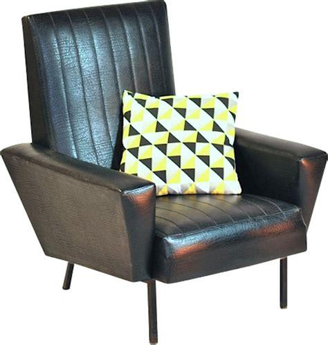 fauteuil vintage en simili cuir 1960 design market