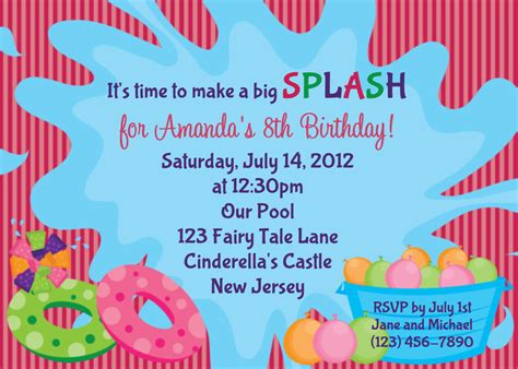 www celebrate it templates invitation for pool template