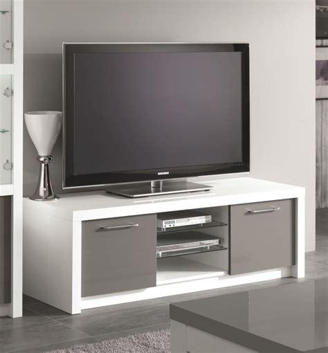 meuble tv design 150 cm laqu 233 blanc gris agadir meubles