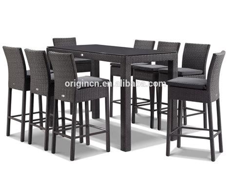 chaise exterieure 9 pièce plage extérieure pub utilisation en plastique