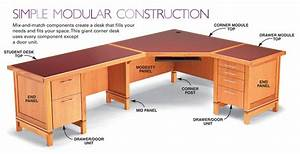 How to Build a Modular Desk System: Free DIY Desk Plans