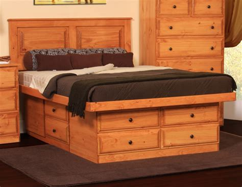 platform bed  drawers queen plans woodworking