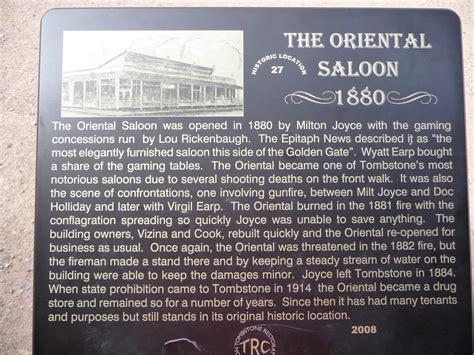 wyatt earps oriental saloon tombstone chamber  commerce