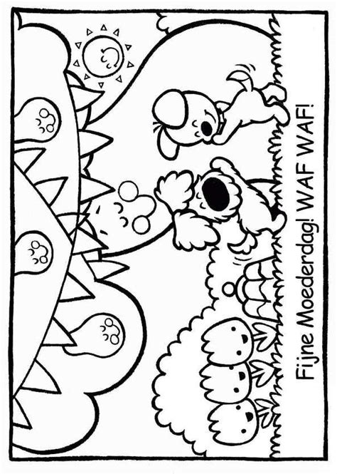 Kleurplaat Woezel En Pip Regenboog by N Kleurplaat Woezel En Pip Woezel En Pip