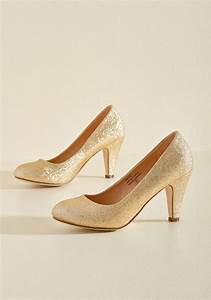In A Classic Of Its Own Heel In Gold Sparkle  Many Shoes Have Eye