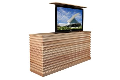 tv lift cabinet raising tv cabinet accord maple tv lift cabinet