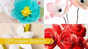 20 DIY paper flower tutorials | how to make paper flowers