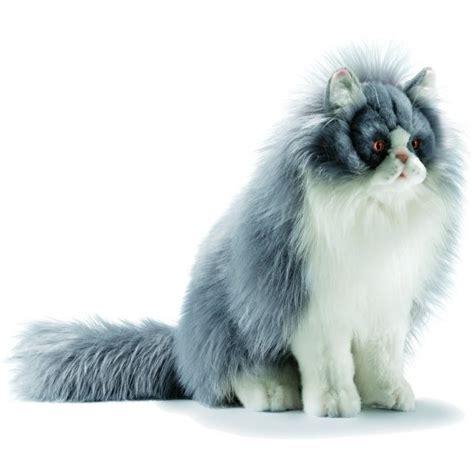 chat persan gris peluche chat persan gris 35 cm