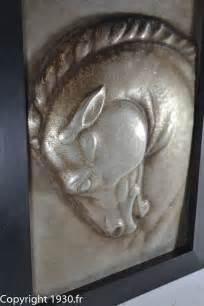 fr rene papa hammered metal horse head sculpture
