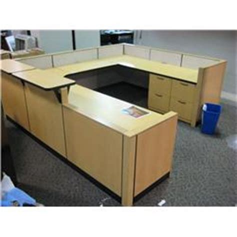 steelcase u shaped desk steelcase u shaped reception desk able auctions