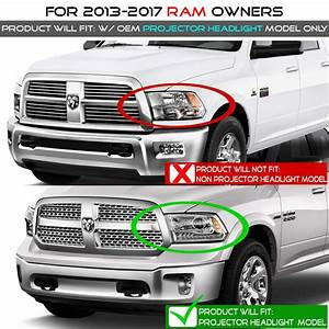 Hid Xenon   13-18 Dodge Ram  Oem Projector Model  Led Drl Projector Headlights