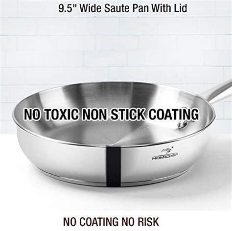 homi chef  piece nickel  stainless steel cookware set nickel  stainless steel pots