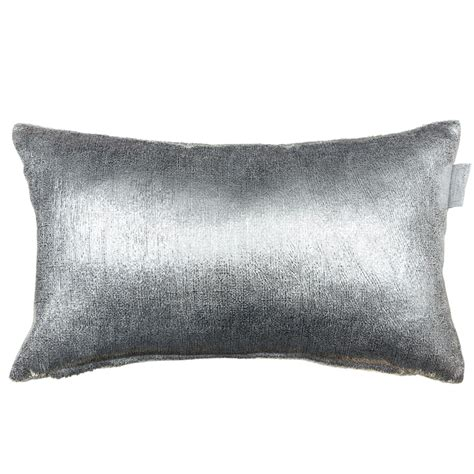 metallic velvet cushion silver soft furnishings