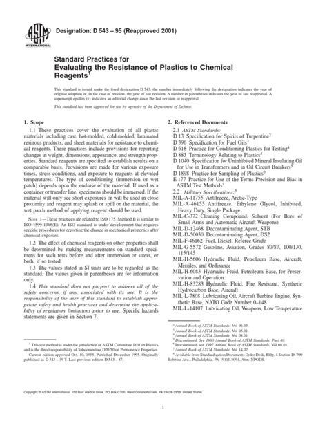 Norma Astm d543-95 | Jet Fuel | Sodium Hydroxide