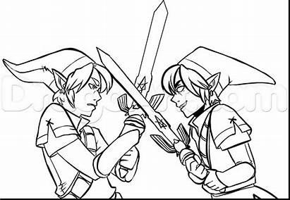 Zelda Coloring Link Pages Legend Dark Toon