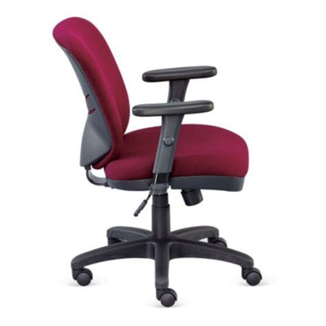 compact low height ergonomic chair in fabric