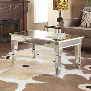 cheap mirrored coffee table furniture roy home design With cheap large coffee table