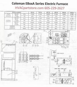 Eb17a Coleman Electric Furnace Parts  U2013 Hvacpartstore