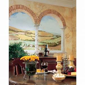 TUSCAN VIEW Large Prepasted WALL MURAL