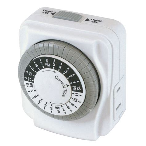 shop utilitech daily timer white 15 amp mechanical